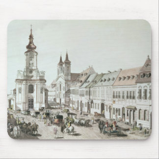 The Parish Church and Cemetery of Fauxbourg Mouse Pad