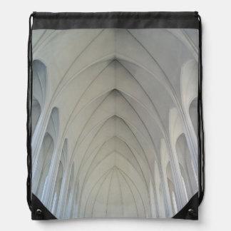 The parish church and landmarks of Reykjavik Drawstring Bag