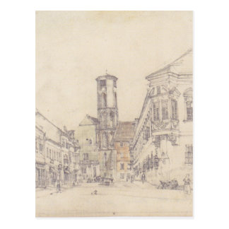 The parish church in Ofen by Rudolf von Alt Postcard