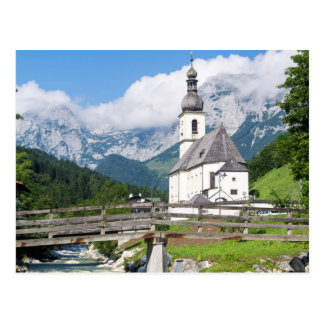 The parish church of Ramsau in Bavaria, Germany Postcard