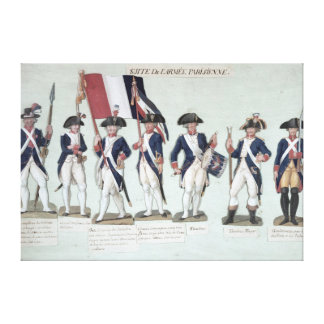 The Parisian Army during the French Canvas Print