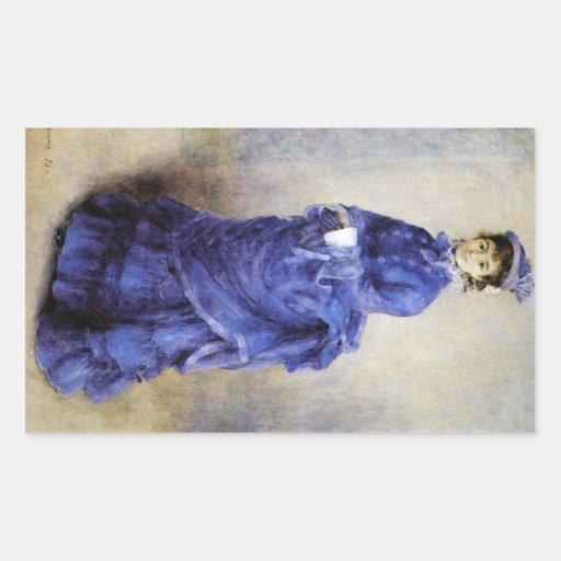 The parisian by Pierre Renoir Rectangle Sticker