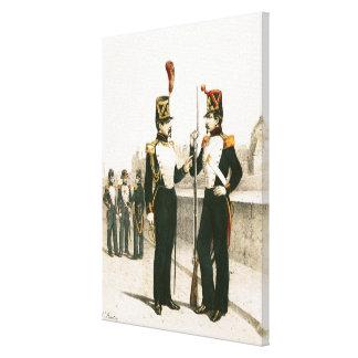 The Parisian Municipale Guard Canvas Print