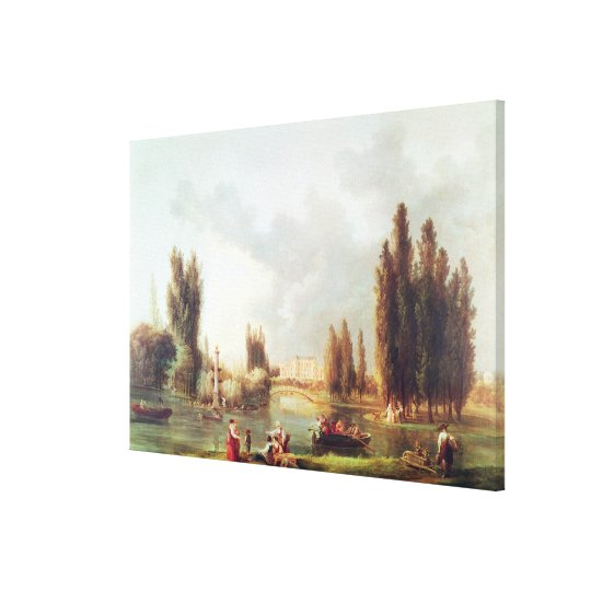 The Park and Chateau at Mereville Canvas Print