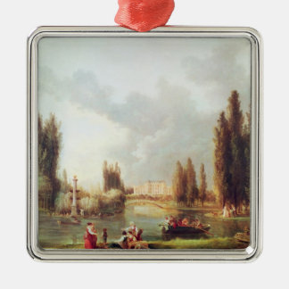 The Park and Chateau at Mereville Metal Ornament