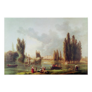 The Park and Chateau at Mereville Poster