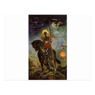The park and the angel of death by Gustave Moreau Postcard