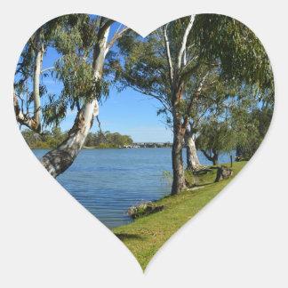 The Park Bench, Berri, South Australia, Heart Sticker