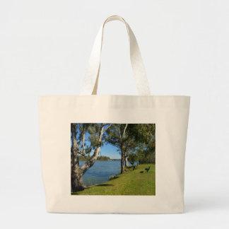The Park Bench, Berri, South Australia, Large Tote Bag