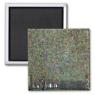 The Park by Gustav Klimt 2 Inch Square Magnet