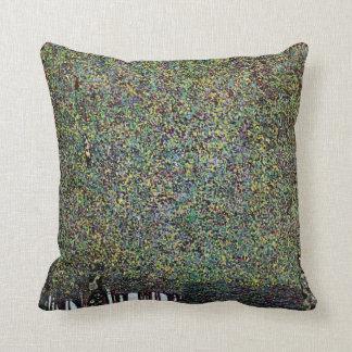 The Park by Gustav Klimt, Vintage Art Nouveau Throw Pillow
