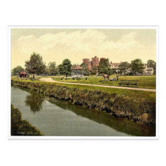 The park, Taunton, England rare Photochrom Postcard