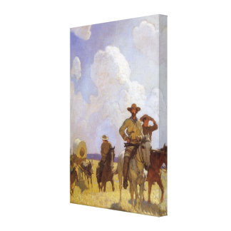 The Parkman Outfit by NC Wyeth Vintage Cowboys Canvas Print