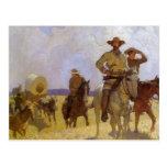 The Parkman Outfit by NC Wyeth, Vintage Cowboys Postcard