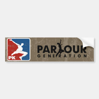 The Parkour Car Bumper Sticker