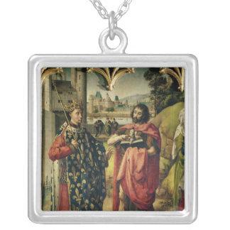 The Parlement of Paris Altarpiece Square Pendant Necklace