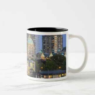 The Parliament Buliding lit up at the inner Two-Tone Coffee Mug