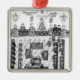 The Parliament of Edward I Square Metal Christmas Ornament