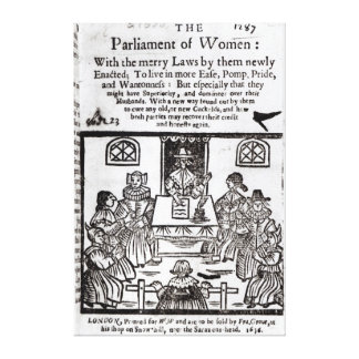 The Parliament of Women, 1656 Canvas Print