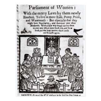The Parliament of Women, 1656 Postcard