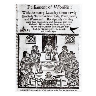 The Parliament of Women, 1656 Postcard