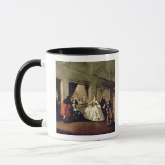 The Parlour of the San Zaccaria Convent (oil on ca Mug
