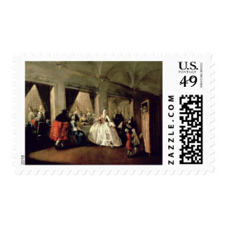 The Parlour of the San Zaccaria Convent (oil on ca Postage