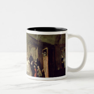 The Parlour of the San Zaccaria Convent (oil on ca Two-Tone Coffee Mug