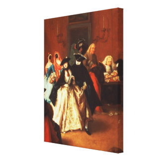 The Parlour (oil on canvas) Canvas Print