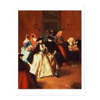 The Parlour (oil on canvas) Postcard