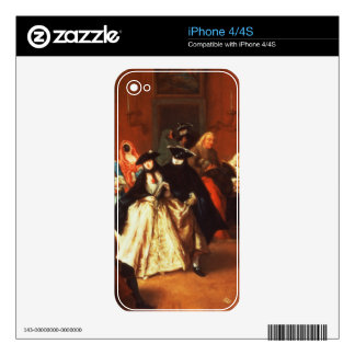 The Parlour (oil on canvas) Skin For The iPhone 4