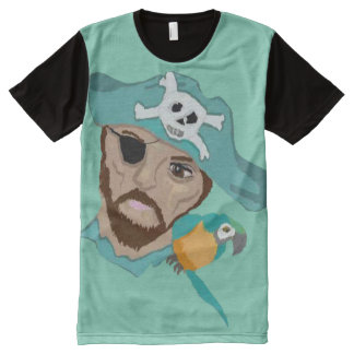 The Parrot And Her Pirate All-Over Print T-shirt