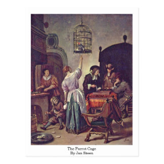 The Parrot Cage By Jan Steen Postcard
