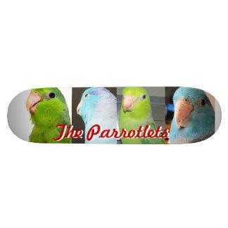 The Parrotlets Parrotlet skate board team deck