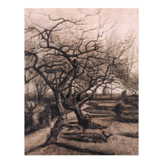 The Parsonage Garden - Nuenen in Winter - van Gogh Flyer
