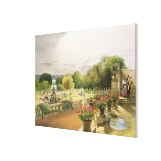 The Parterre, Harewood House near Leeds, pub. by T Canvas Print