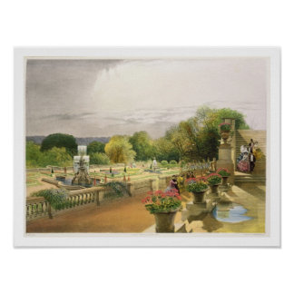 The Parterre, Harewood House near Leeds, pub. by T Poster