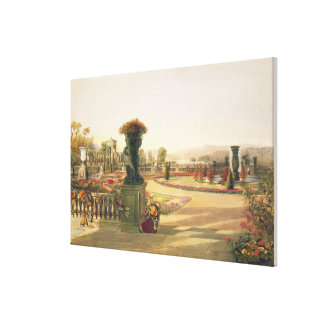 The Parterre, Trentham Hall Gardens, pub. by Thoma Canvas Print