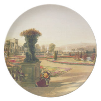 The Parterre, Trentham Hall Gardens, pub. by Thoma Party Plate