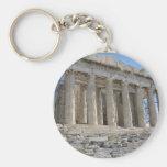 The Parthenon - 5th century BC Basic Round Button Keychain
