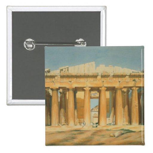 The Parthenon, Athens, 1810-37 Pinback Button