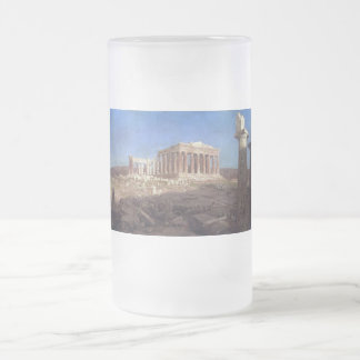 The Parthenon by Frederick Edwin Church Frosted Glass Beer Mug