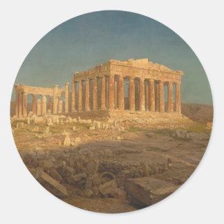 The Parthenon - Frederic Edwin Church (1871) Classic Round Sticker