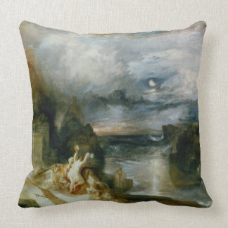 The Parting of Hero and Leander (oil on canvas) Throw Pillow