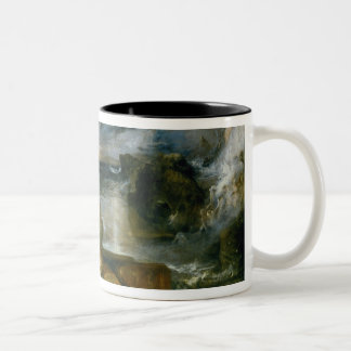 The Parting of Hero and Leander (oil on canvas) Two-Tone Coffee Mug