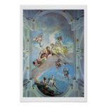 The Parting of Venus from Adonis, 1707-08 (fresco) Poster