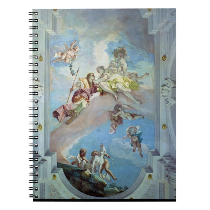 The Parting of Venus from Adonis, 1707-08 (fresco) Spiral Notebook