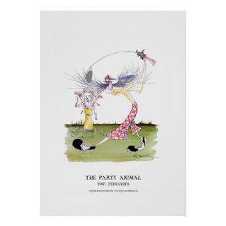 the party animal, tony fernandes poster