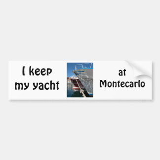 The party is aboard my yacht bumper sticker