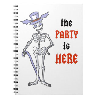 The Party Is Here Spiral Notebook